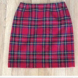 Eddie Bauer red plaid skirt